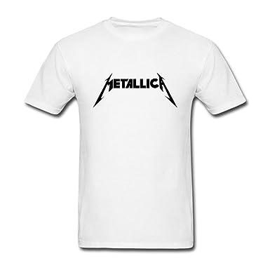 f3ff5afa1 ... com yhdjk men s metallica logo t shirt white s clothing ...