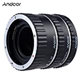 Colorful Metal Electronic TTL Auto Focus Focus AF Macro Extension Tube Ring for Canon EOS EF EF-S 60D 7D 5D II 550D Silver