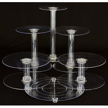 Beau 6 Tier Clear Wedding Cascade Cupcake Cake Stand (STYLE R600)