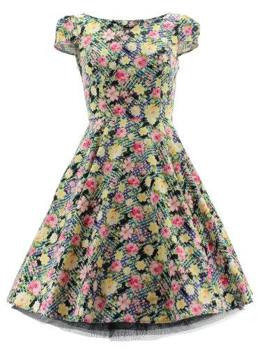 H&R London - Vestido - para mujer Multicoloured