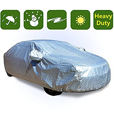 RockyMRanger 10 Layer Heavy Duty Waterproof Car Cover Universal Fit Compact Cars YCHH3