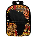 School Backpack Africa Totem Map Travel Bags Bookbag For Kids