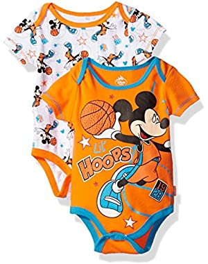 Disney Baby Boys' Mickey Mouse 2 Pack Bodysuit