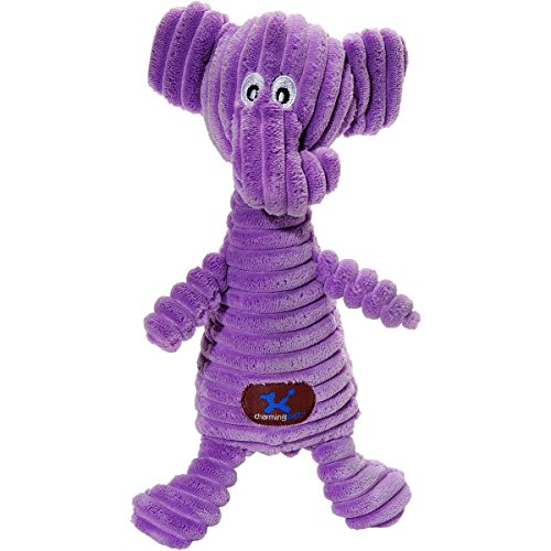 Charming Pet Squeakin' Squiggles Toy - Tough & Durable Plush Squeaky Dog Toy for Awesome Pets ()