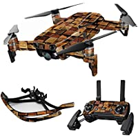 MightySkins Skin for DJI Mavic Air Drone - Stacked Wood | Max Combo Protective, Durable, and Unique Vinyl Decal wrap cover | Easy To Apply, Remove, and Change Styles | Made in the USA