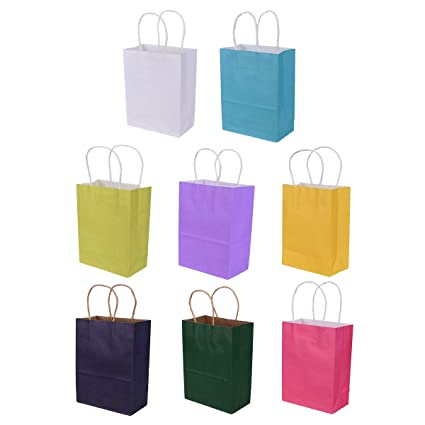 Ulife Mall 8 Pcs Bolsas de Regalo, Bolsas Papel Kraft con ...