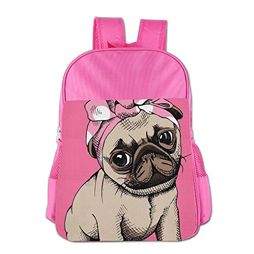 27a828e307d1 Bulldog With Pink Bow Children School Backpack Carry Bag For Youth Boys  Girls