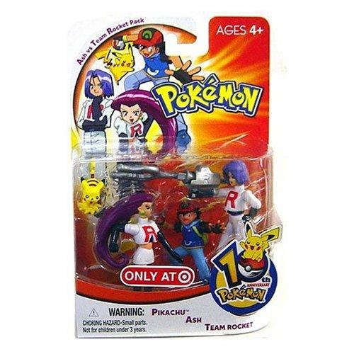 Hasbro Pokemon 10th Anniversary Ash vs Team Rocket Pack Mini Figure 4-Pack [Pikachu, Ash & Team Rocket] ()