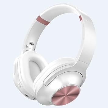 MLL Auriculares Estéreo, Auriculares Inalámbricos Bluetooth para Teléfonos Móviles - Auriculares Activos para Correr - Auriculares para Llamadas,Blanco: ...