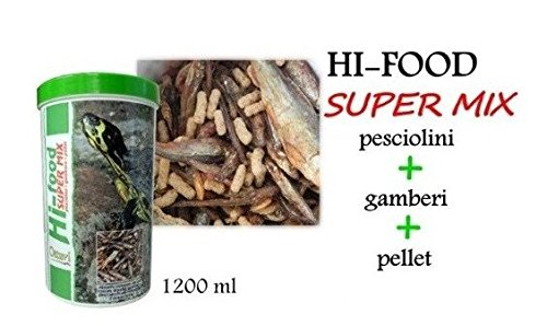 Ottavi Hi-Food per Tartarughe con pesciolini Pellet 1 Lt gamberi