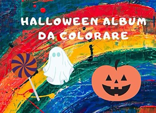 Decorazioni Per Halloween (HALLOWEEN: album da colorare per bambini con simpatici disegni a tema halloween (Italian)
