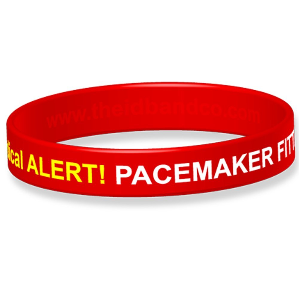 The ID Band Company Pacemaker Fitted Medical Alert Silicone Wristband Medium Purple 1 Units