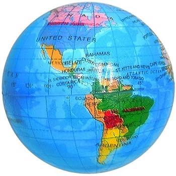 World Map Globe Ball. Globe Squeeze Stress Ball  3 inch Amazon com Toys Games