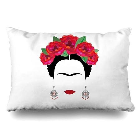 Ahawoso - Funda de almohada para reina de 20 x 30 aretes rojo ...