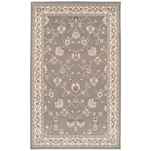 Superior Elegant Kingfield Collection Area Rug, 8mm Pile Height with Jute Backing, Classic Bordered Rug Design, Anti-Static, Water-Repellent Rugs - Slate, 8' x 10' Rug