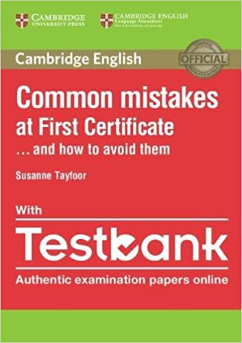Book Common Mistakes at First Certificate... and How to Avoid Them with Testbank
