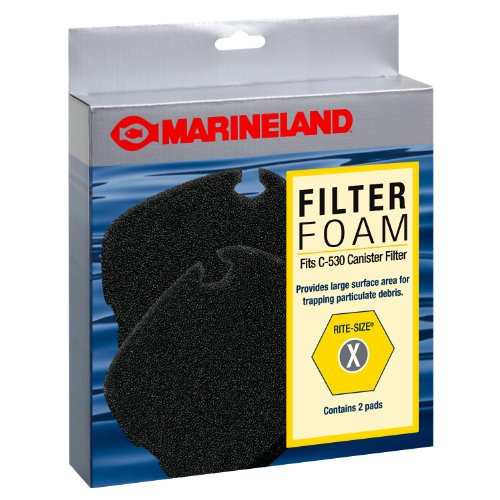 Marineland PA11501 C-530 Canister Filter Foam, 2-Pack ()