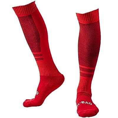 LANSHI Men's Soccer Socks Compression Long Sport Over Knee High Competition Training Soccer Socks Size M US(6-12)