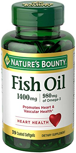 Nature's Bounty Fish Oil 1400 mg Triple Strength One-Per- Day Odorless, 39 Softgels