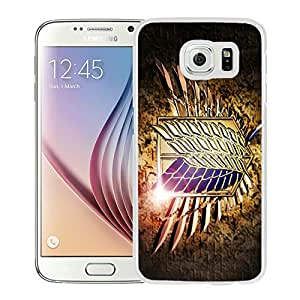 Unique and Grace Case Shingeki no Kyojin 14 Samsung Galaxy S6 Phone Case in White