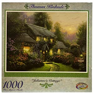 Thomas Kinkade 1000pc Puzzle Juliannes Cottage By Ceaco