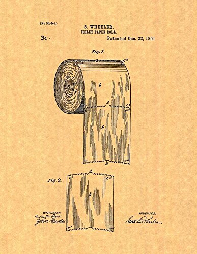 Toilet Paper Roll Patent Print Art Poster