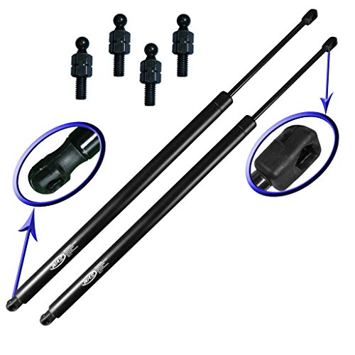 (Two Rear Hatch Liftgate Gas Charged Lift Supports With Upgraded Hardware For 96-00 Dodge Caravan, 96-00 Dodge Grand Caravan, 96-00 Chrysler Town and Country, 96-00 Chrysler Voyager, 96-00 Chrysler Grand Voyager, 96-00 Plymouth Voyager, 96-00 Plymouth Grand Voyager. Left or Right Side Mini Van. WGS-135-2)