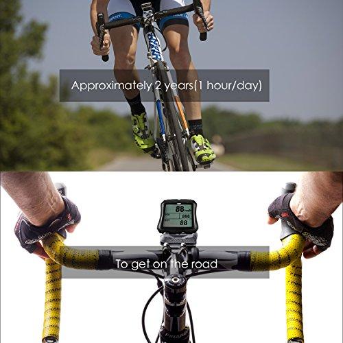 Sospers Bike Computer Waterproof, Wireless Speedometer Cadence, Bicycle Odometer Multi-function Large Screen LCD Display by Speedrid (Image #6)
