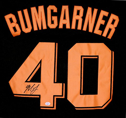 Madison Bumgarner San Francisco Giants Signed Autographed Black #40 Jersey PAAS COA