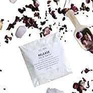 LIVE BY BEING Mini Milk Bath Soak, Aromatherapy Gift for Her, Moisturizing Coconut & Rose Bath Soak for Re