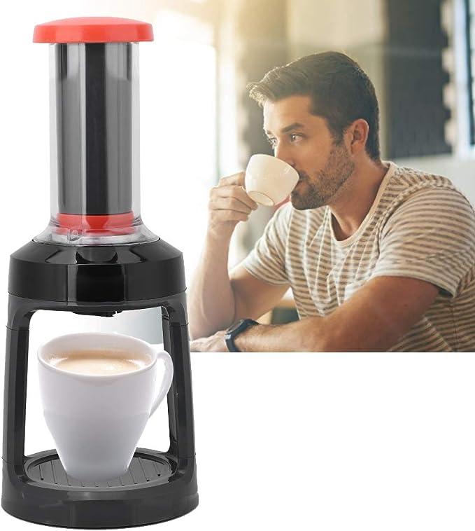 Cafetera a Presión Manual Cafetera de Cápsulas Máquina de Café de Viaje Sin Electricidad: Amazon.es: Hogar