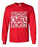 "Tcamp ""Straight Outta London"" Arsenal Soccer Fans Men's Long Sleeve T-shirt"