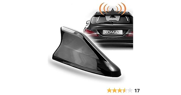 XOMAX de dat04 Tiburón nevera Antena de coche para GPS, DAB +, AM, FM Recepción, incluye aprox. 3,6 m cable de extensión