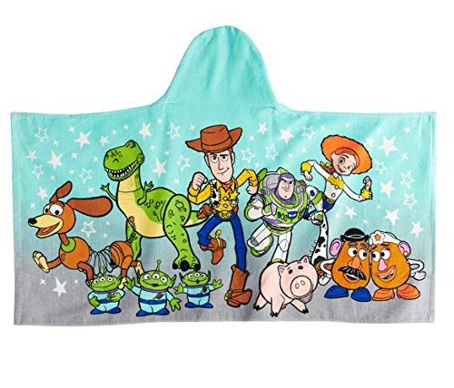Jumping Beans Toy Story Hooded Character Bath Wrap Towel for Bath, Pool