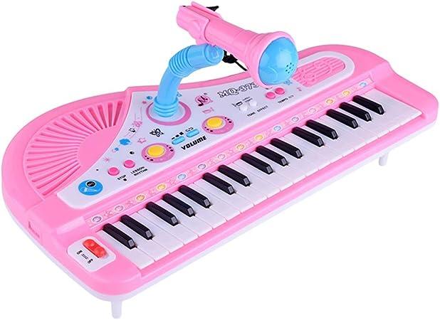 SUPVOX Teclado musical electrónico para niños con micrófono ...