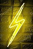 Desung Brand New 14'' Flashing Thunderbolt Lightning Bolt Gift Lamp Decorated Acrylic Panel Handmade Custom Design Neon Sign Light WD17