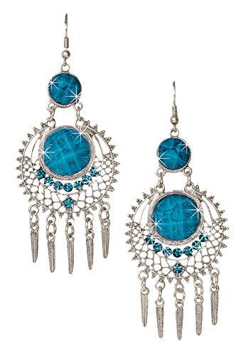 Resin Turquoise Earrings (Dangle Earrings - Southwestern French Wire Earrings)