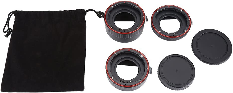 3 Rings Make 7 Different Combinations Adapter Rings Set Auto Focus Macro Extension Tube Lens Adapter Rings Set Suitable for Canon EOS EF Mount 13mm, 21mm, 31mm