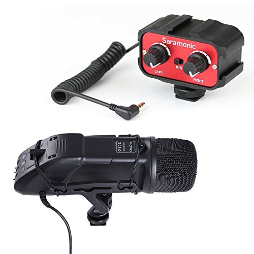 Movo DSLR Audio Bundle with Heavy-Duty X/Y Stereo Video Microphone and Standard Mixer for DSLR Cameras & Camcorders
