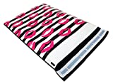 "Pack It Chic - 10"" X 13"" (100 Pack) Striped Kiss Poly Mailer Envelope Plastic Custom Mailing & Shipping Bags - Self Seal (More Designs Available)"