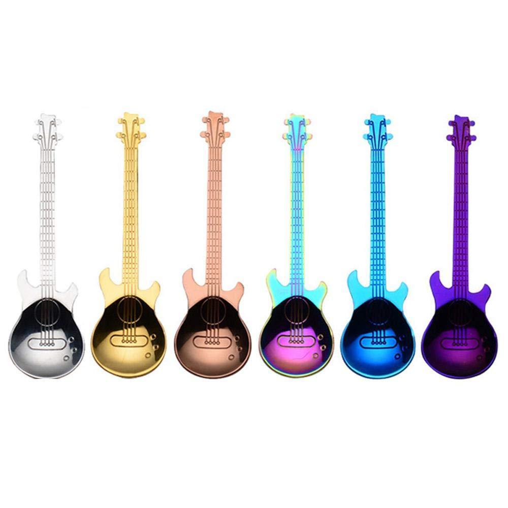 mischen küche regenbogen form edelstahl teelöffel farben gitarren