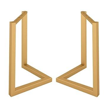 JRPT patas de mesa 2 Piezas,Patas de muebles Acero 3 × 5 Cm ...