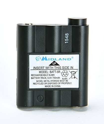 Original Midland BATT5R AVP7 for GXT Walkie Talkie (GXT1000 GXT1050 GXT850 GXT860 GXT900 GXT950, and more) by Midland