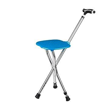 Multifunción ligero de 3 patas plegable andador asiento de viaje ...