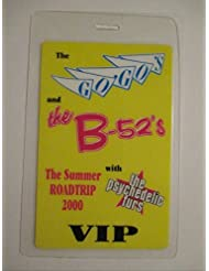 2000 the Go'Go's & B-52's Laminated Backstage Pass Summer Roadtrip V.i.p.