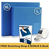 Physical Therapists Recommended Foam Balance Pad - Free Stretching Strap & Bonus eBook | Balance Pads for PT Rehab & Ankle Recovery, Lower Back/Knee Pain | Wobble Board Cushion for Strength