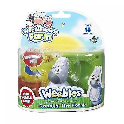 Weebledown Farm Weebles Figure and Base Dapples the Horse Character Options