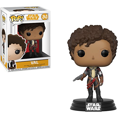 Funko Val: Solo - A Star Wars Story x POP! Vinyl Figure + 1 Official Star Wars Trading Card Bundle [#243/26989]