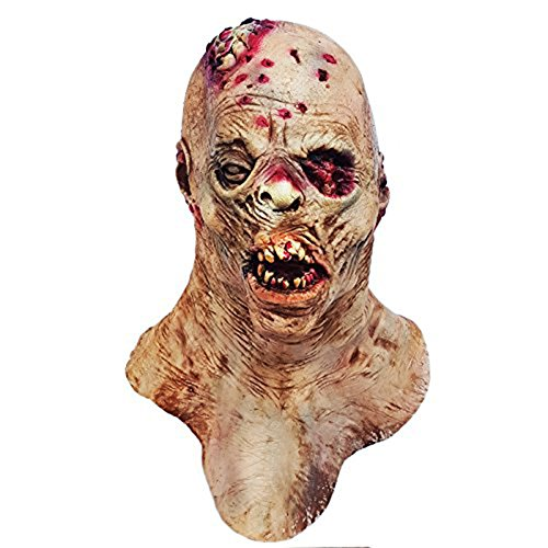 molezu Horror Mask, Zombie Mask, Latex Biochemical Monster Mask Suit for Costume Party Halloween Props Yellow]()