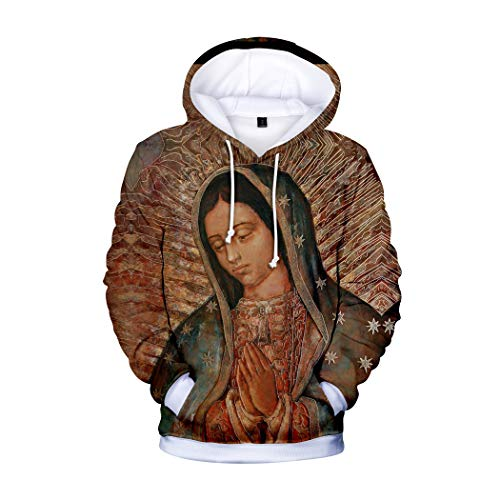Mary is Mother Our Lady of Guadalupe Unisex Printed Pullover Hoodie (Medium)